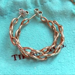 Tiffany & Co. Rubedo Infinity Hoop Post Earrings